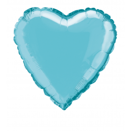 SOLID BABY BLUE  COLOUR SHAPED FOIL BALLOONS