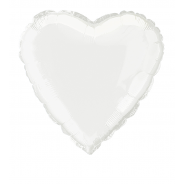 SOLID WHITE  COLOUR SHAPED FOIL BALLOONS