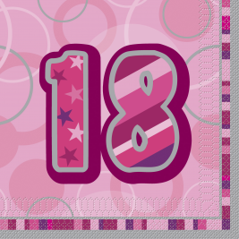 18TH  BIRTHDAY16 CT - Luncheon Napkins - Pack of 16