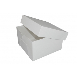 White Stapleless Shrink Wrapped Cake Boxes 20 Inch- 5Pk