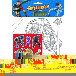 Superheroes Coloring Set
