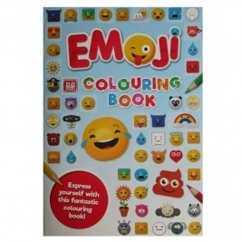 Books EMOJI   A4 Colouring Book (Blue)