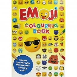 Books EMOJI   A4 Colouring Book (Yellow)