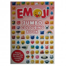 Books EMOJI   A4 JUMBO Colouring Book (80 Pages)