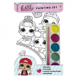 The Home Fusion Company LOL Surprise Painting Set With Brush Paints & 8 Pictures To Paint