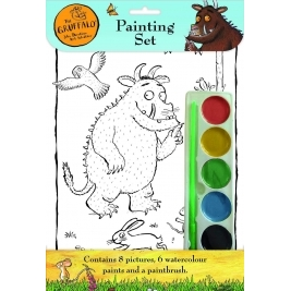 The Gruffalo Painting Set With Pictures 6 Watercolour Paints & a Paintbrush