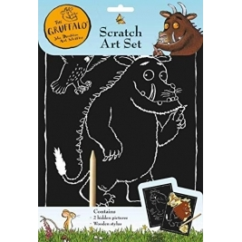 The Gruffalo Scratch Art Set Childrens Colouring Pack with Wooden Stylist