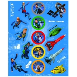 Thunderbirds Sticker Sheets- Pack of 4