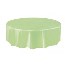 APPLE GREEN  ROUND PLASTIC TABLECOVERS 84