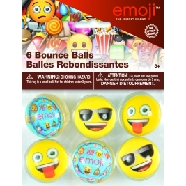 Emoji Bounce Balls - Pack of 6