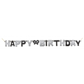 Happy Birthday Glitz Jointed Banner Black