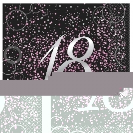 Pink Glitz 18th Birthday Luncheon Napkins (16pk)