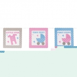 Baby Joy Baby Shower Bunting Banner
