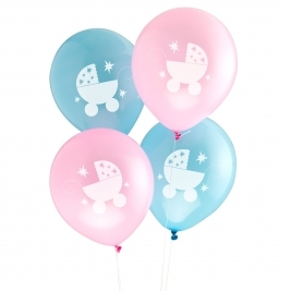 Baby Joy Baby Shower Balloons in 2 Designs- 8 pack