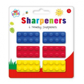 6 Novelty Sharpeners (Bricks)
