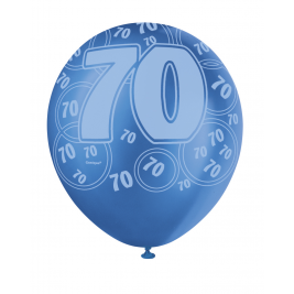 70th Birthday Blue & White 12