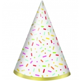 Donut Party Party Hats (8pk)