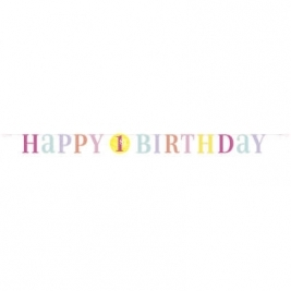 Pink Dots 1st Birthday Letter Banner 6ft