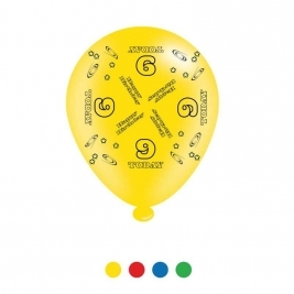Age 9 Unisex Birthday Latex Balloons - Pack of 8