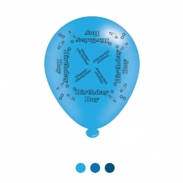 Birthday Boy Latex Balloons - Pack of 8