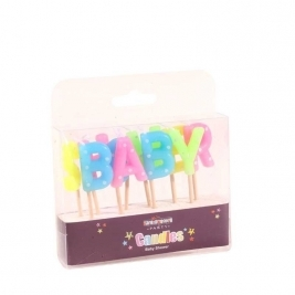 Baby Shower Pick Candle
