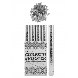 Confetti Shooter Silver Paper 1pc - 50cm
