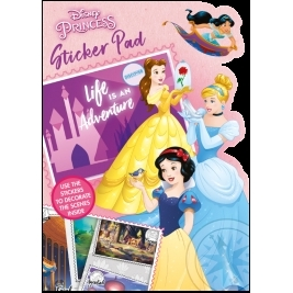 Disney Princess Shaped Sticker Pad