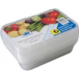 Extra Value Micro Containers Boxes with Lids 500Cc /500ml - 6Pk