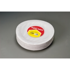 Extra Value Paper Plates 23Cm - 100Pk