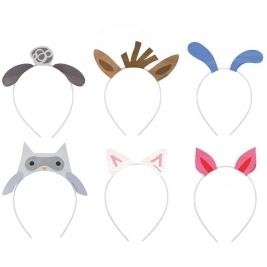 Farm Party Headbands, Assorted Pack of 6