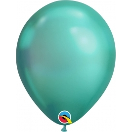 Green Chrome Latex Balloons 11