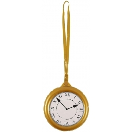 Inflatable Jumbo Pocket Watch Clock with Necklace - 24.5cm