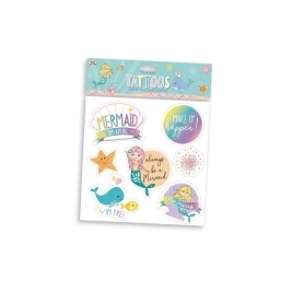 Mermaid Games - Temporary Multicolour Tattoos