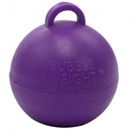 Pack of 25 Plastic Bubble Balloon weights - Purple 35g