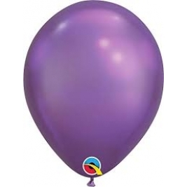 Purple Chrome Latex Balloons 11