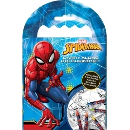 Spiderman Carry Along Coloring Set