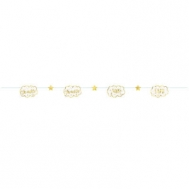 Twinkle Twinkle Little Star Paper Garland 7 ft