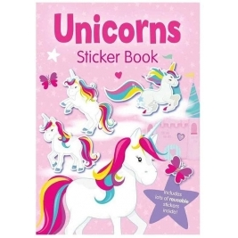 UNICORNS - A4 Sticker Book (Colouring & Stickers)