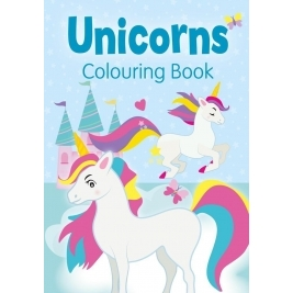Unicorns Colouring Book (Blue)
