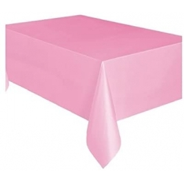 Unique Party Plastic Baby Pink Table Cover, 9ft x 4.5ft - 50362