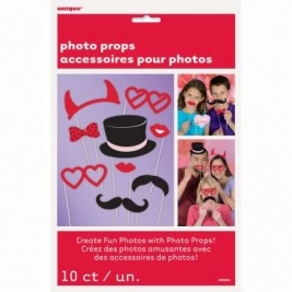 Valentines Day Photo Booth Props 10ct