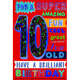 Age 10 Boy Greeting Card