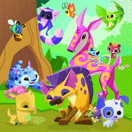 Animal Jam Luncheon Napkins [16 Per Pack]