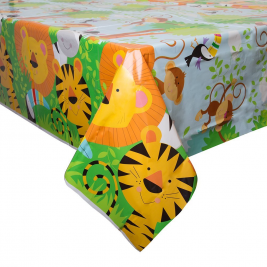 Animal Jungle Plastic Tablecover 54