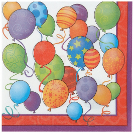 Birthday Balloons Luncheon Napkins (16pk)