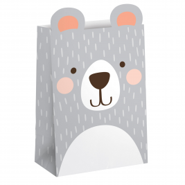 Birthday Bear Paper Treat Bag