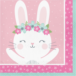 Birthday Bunny Luncheon Napkins Pack of 16
