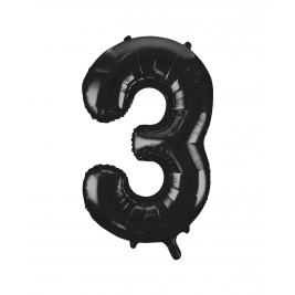 Black Foil Balloon Number 3 - 34