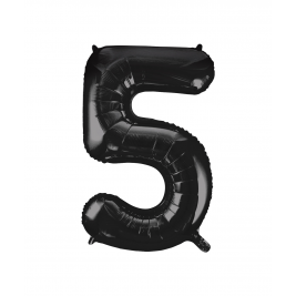 Black Foil Balloon Number 5 - 34