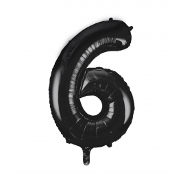 Black Foil Balloon Number 6 - 34